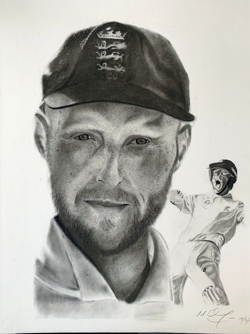 Ben Stokes montage limited edition prints