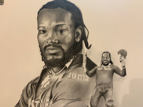 Chris Gayle Limited Edition print