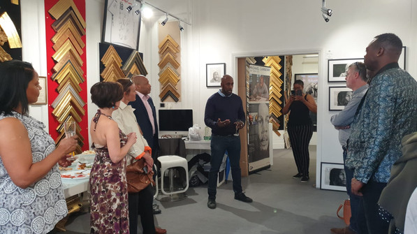 Launch night of my first exhibition at Campbell's Art gallery 14 /6/2019