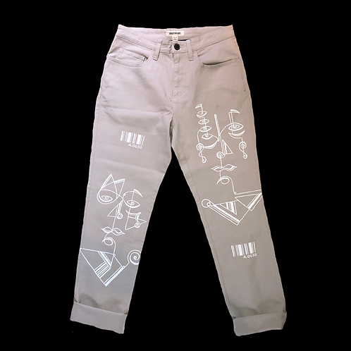 ABSTRACT FACES TROUSERS (A.050)