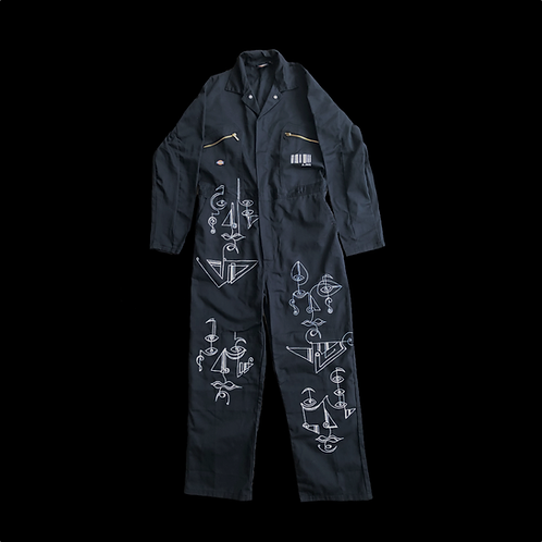 Abstract Faces Boiler Suit (A.002)