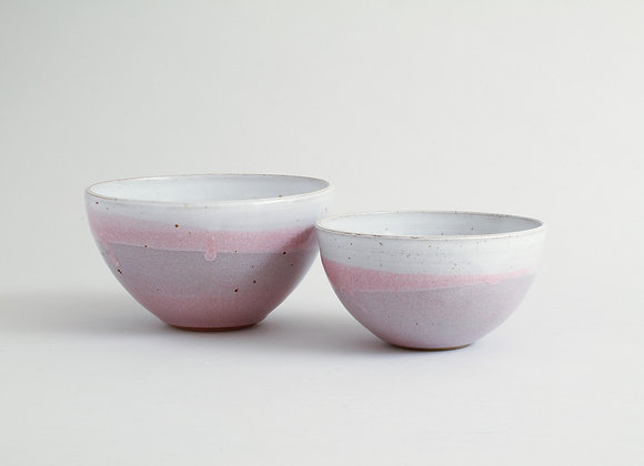 Small Double Dipped Pink Bowl