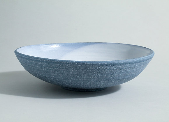 Large and shallow cobalt blue bowl