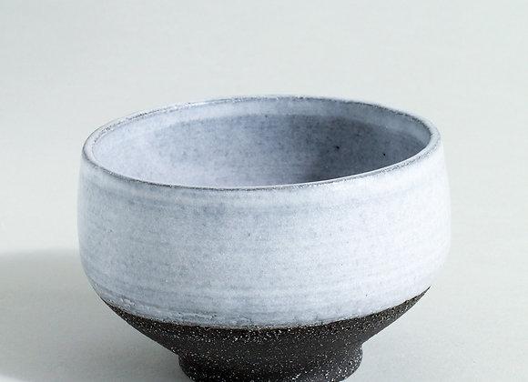 Charcoal Tea Bowl with Dolomite Glaze