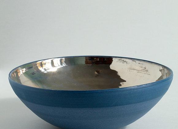 Cobalt Blue Platinum Lustre Bowl