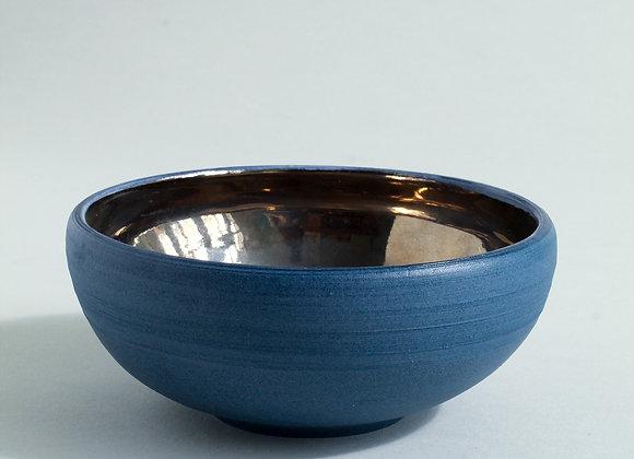 Cobalt Blue and Platinum Lustre Bowl