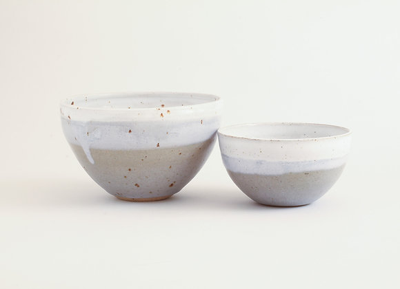 Small Double Dipped Grey Bowl