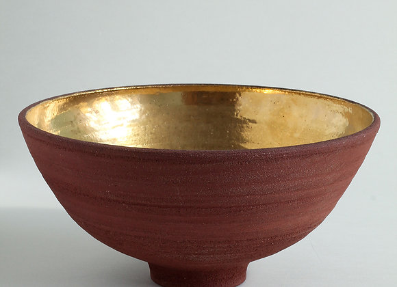 Terracota Bowl with Antique Gold Lustre