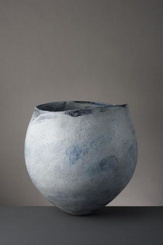 Large Round Blue Vessel