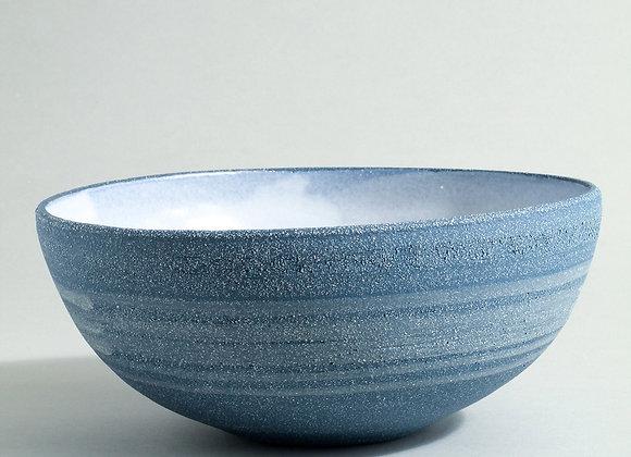 Cobalt Blue Stoneware Serving Bowl with Dolomite Glaze