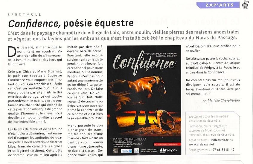 Presse Spectacle Ardevac