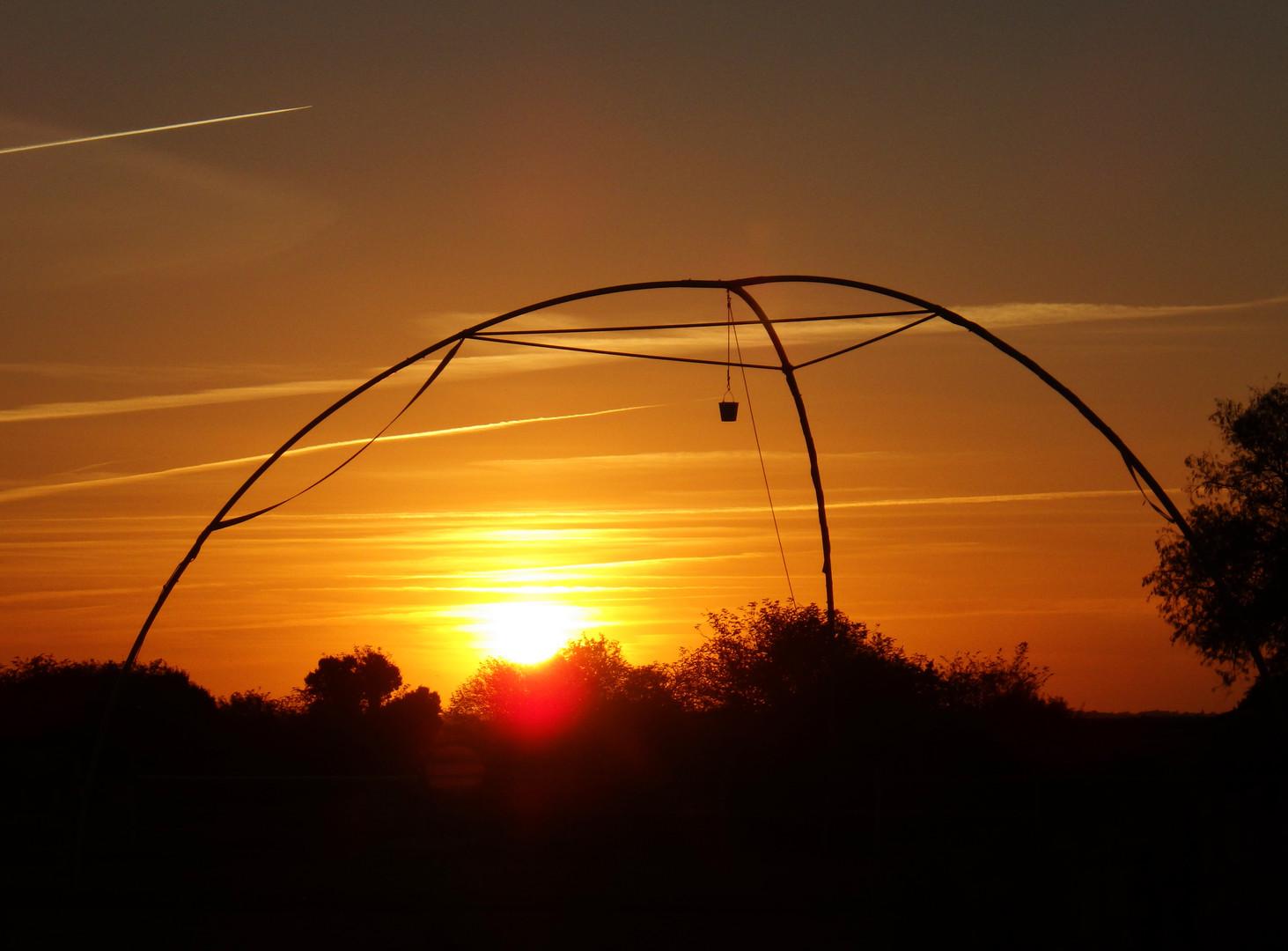 couché de soleil sur le Haras du passage