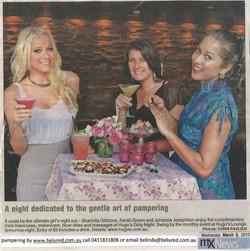 Pamper Event at Hugos Girly Night