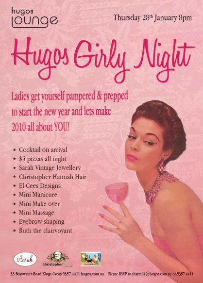 Hugos Girly Night