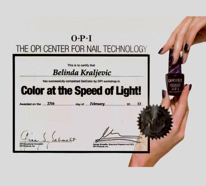 Belindas OPI Certificate