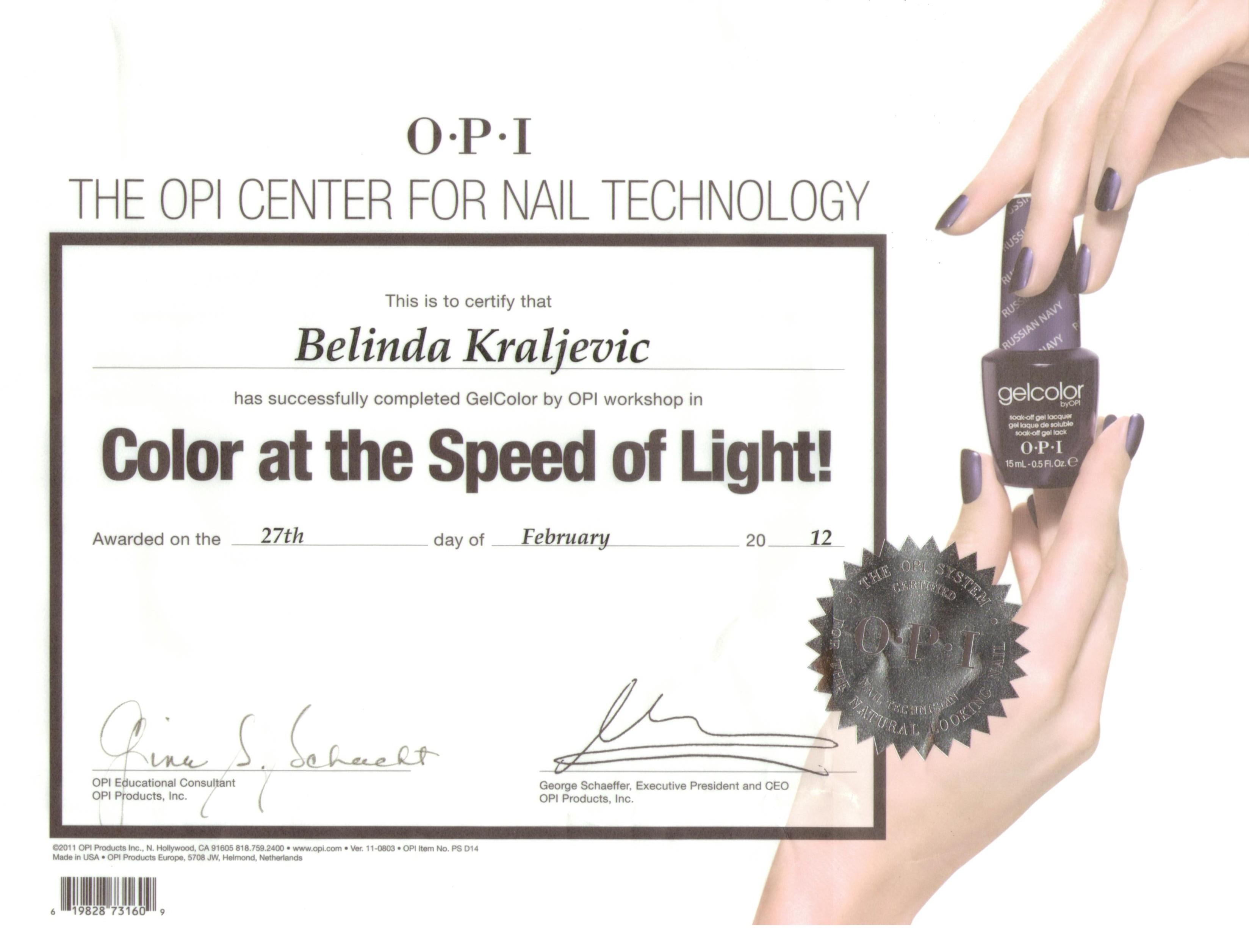OPI Certification