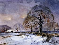 Sussex lane, first snow