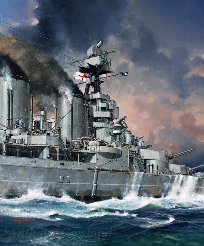 HMS Hood going into battle
