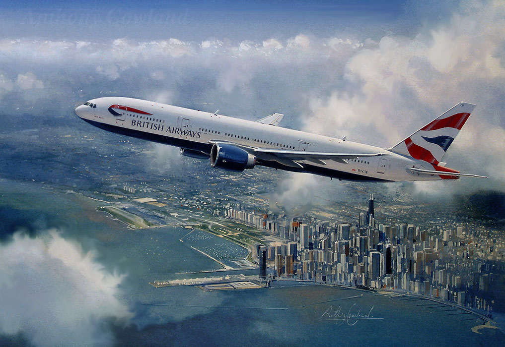 Boeing 777 British Airways. Chicago