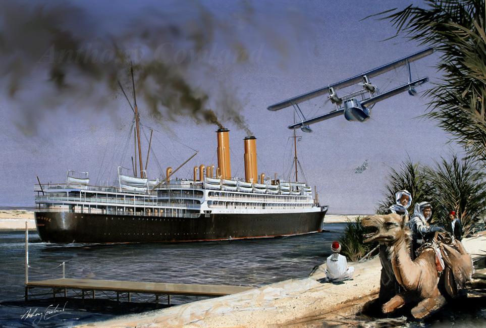 P&O Ormonde. Suez Canal