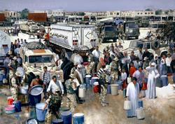 10Regt. Basrah Iraq. Water dispersal point
