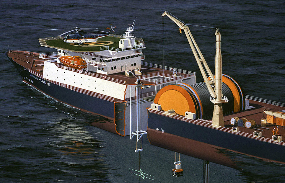 Subsea venture. Exploration vessel