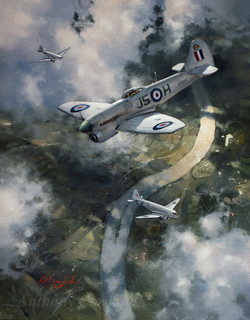 Hawker Tempest. Post war in Berlin air corridor