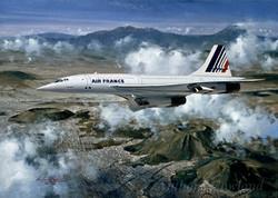 Air France Concorde over Mexico City