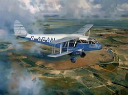 De Havilland DH.84 Dragon over the Medway