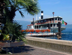 Steamer on Lake Garda, Itlay