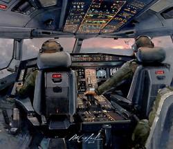 Air Tanker Voyager cockpit