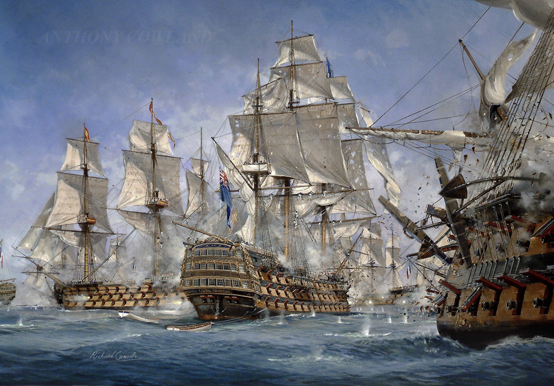 HMS Royal Sovereign. Battle of Trafalgar