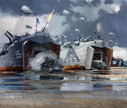 US Navy landing ships
