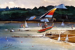 Microlight at Bewl Water, Sussex
