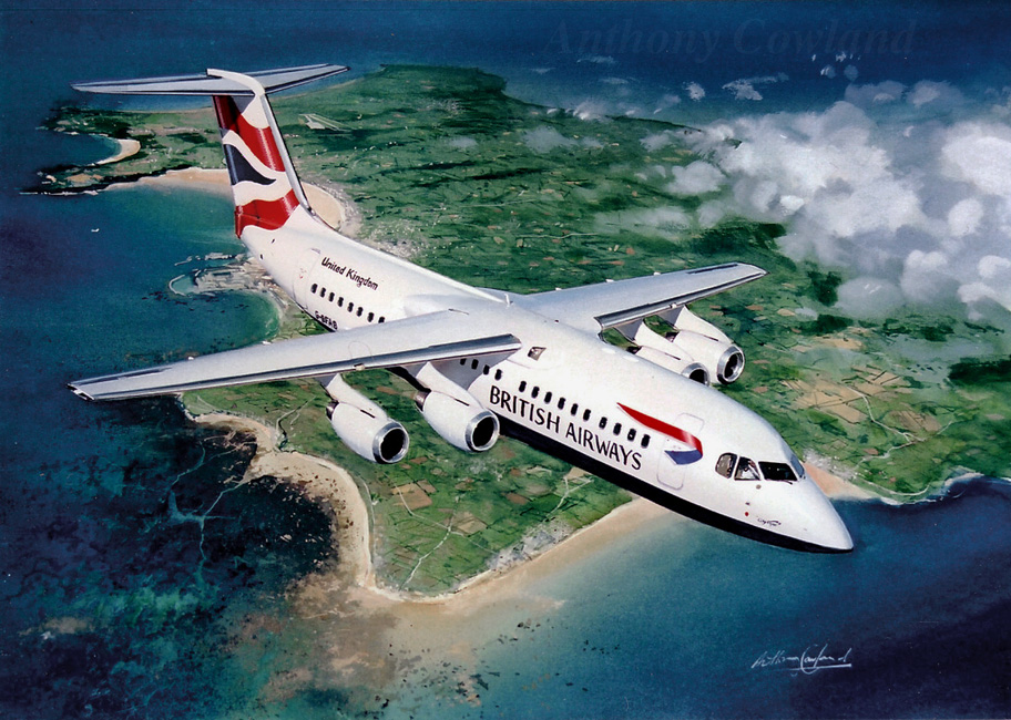 BAe146 British Airways. Jersey