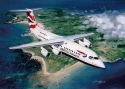 BAe146 British Airways. Jersey