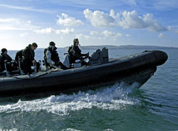 Royal Marines off Studland Bay, Dorset