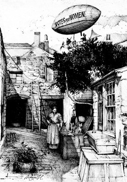The Suffragette Airship. Henry Spencer airship