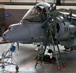 Harrier GR9 with pilots. Posing for one of my paintings