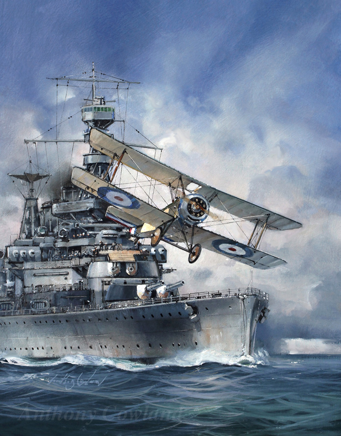 HMS Repulse with Sopwith Pup