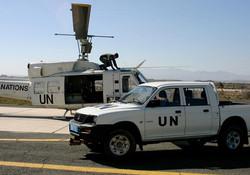 Argentinian Huey in Cyprus. UN peacekeeping