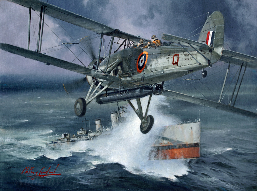 HMS Fury with Fairey Swordfish