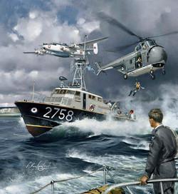 RAF Rescue Launch. Westland Whirlwind & Shackleton