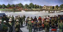 QOGLR medal parade Aldershot
