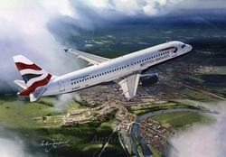 Airliner A320 British Airways