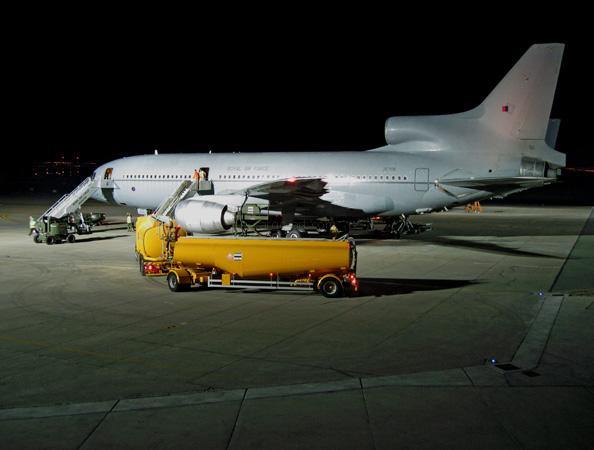Lockhed Tristar. 3am at RAF Akrotiri, Cyprus