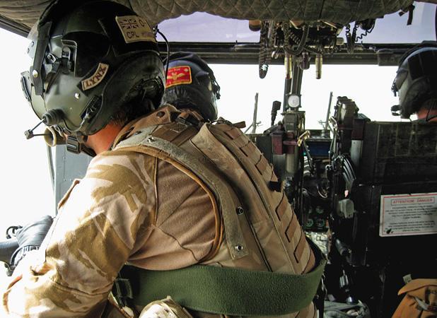 Britiah Army Lynx over Afghanistan