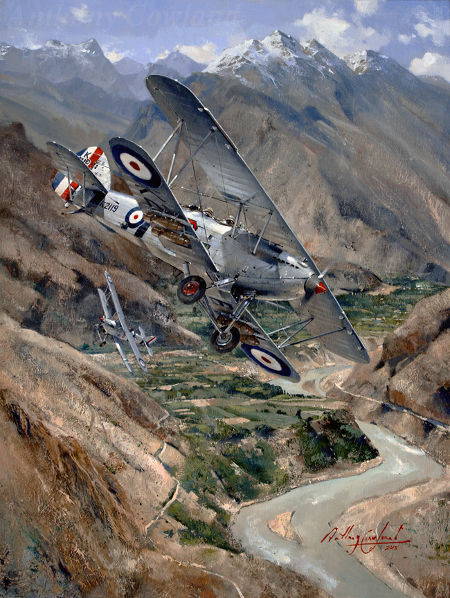Hawker Hart over Khyber Pass