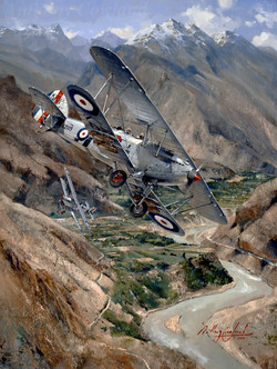 Hawker Hart over Khyber Pass