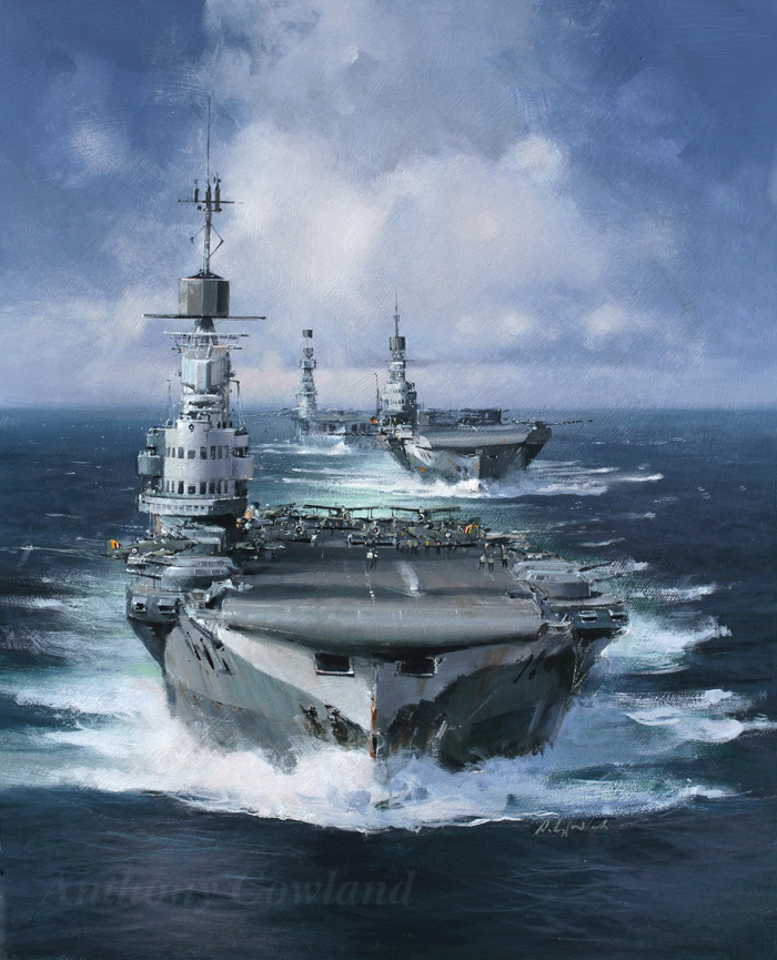 HMS Victorious, HMS Indomitable & HMS Eagle